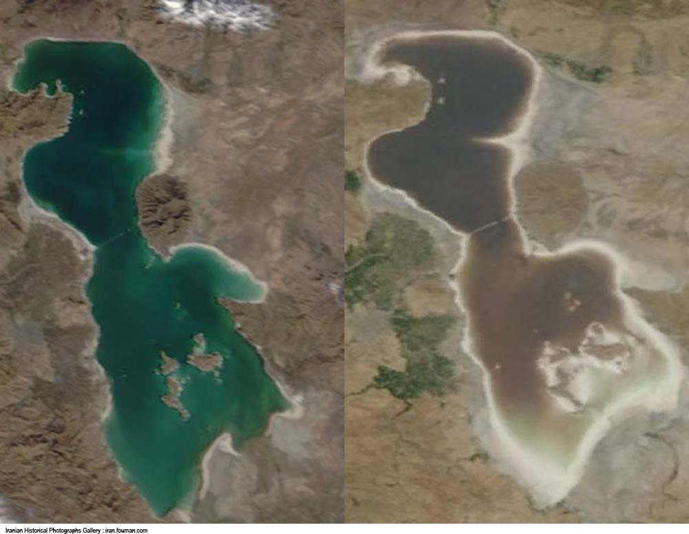 Negareh Azarbaijan Urmia Lake Satellite 2003 2010jpg