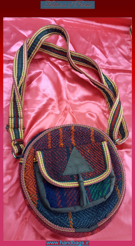 کیف زنانه موج جاجیمی گرد
