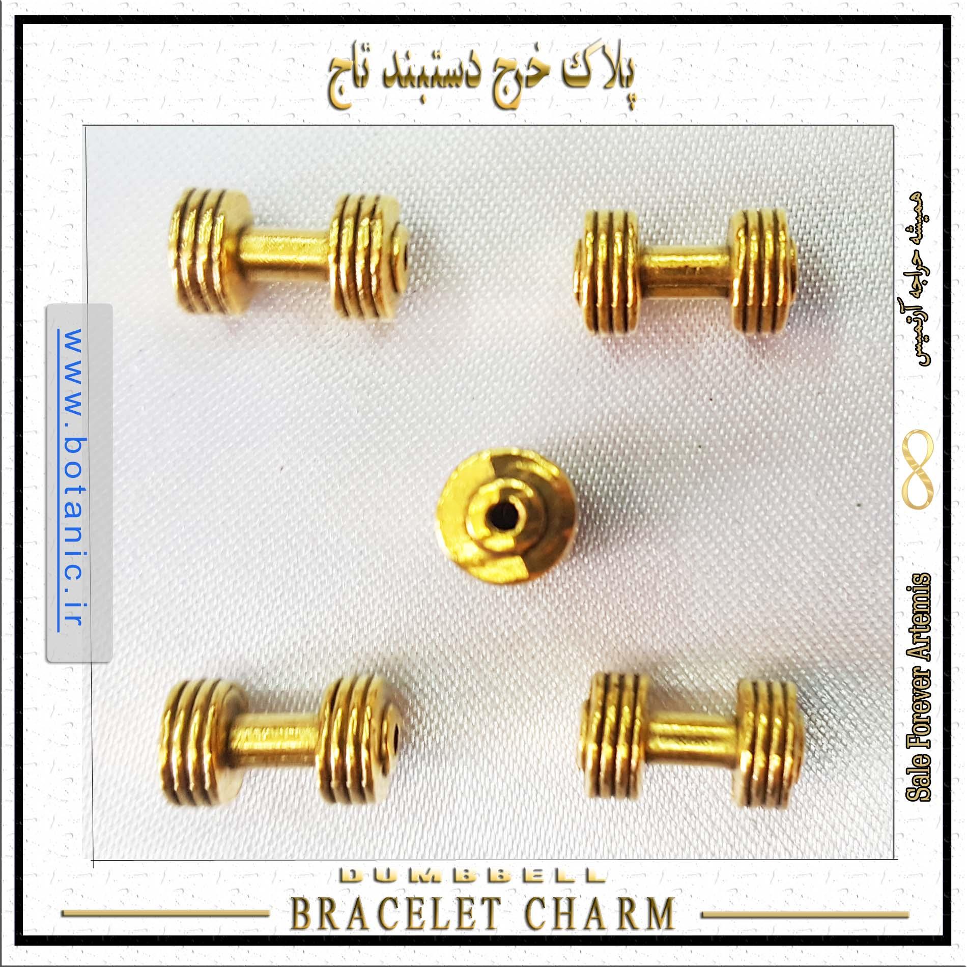 Dumbbell Bracelet Charm