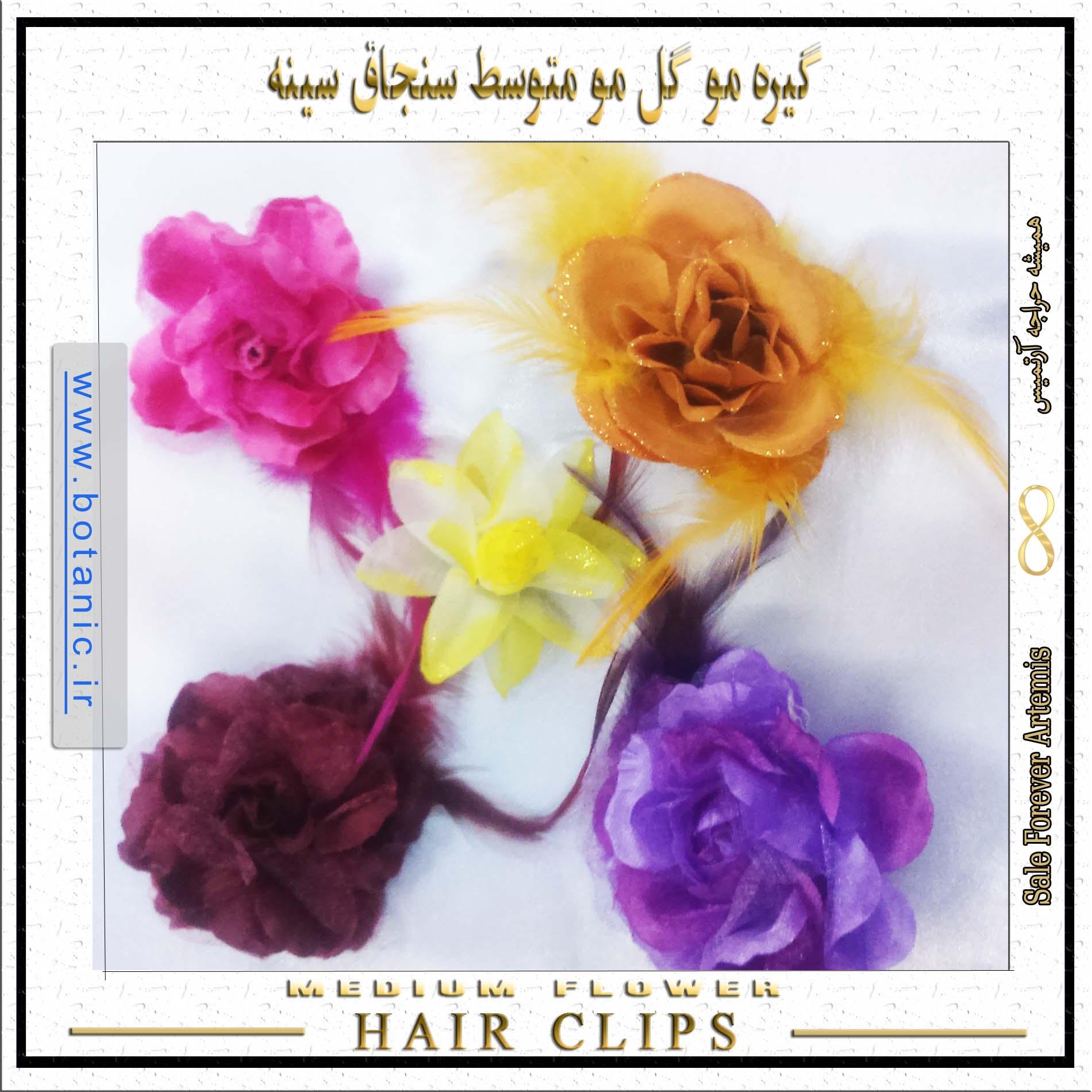 انبری گیره مو گل مو متوسط