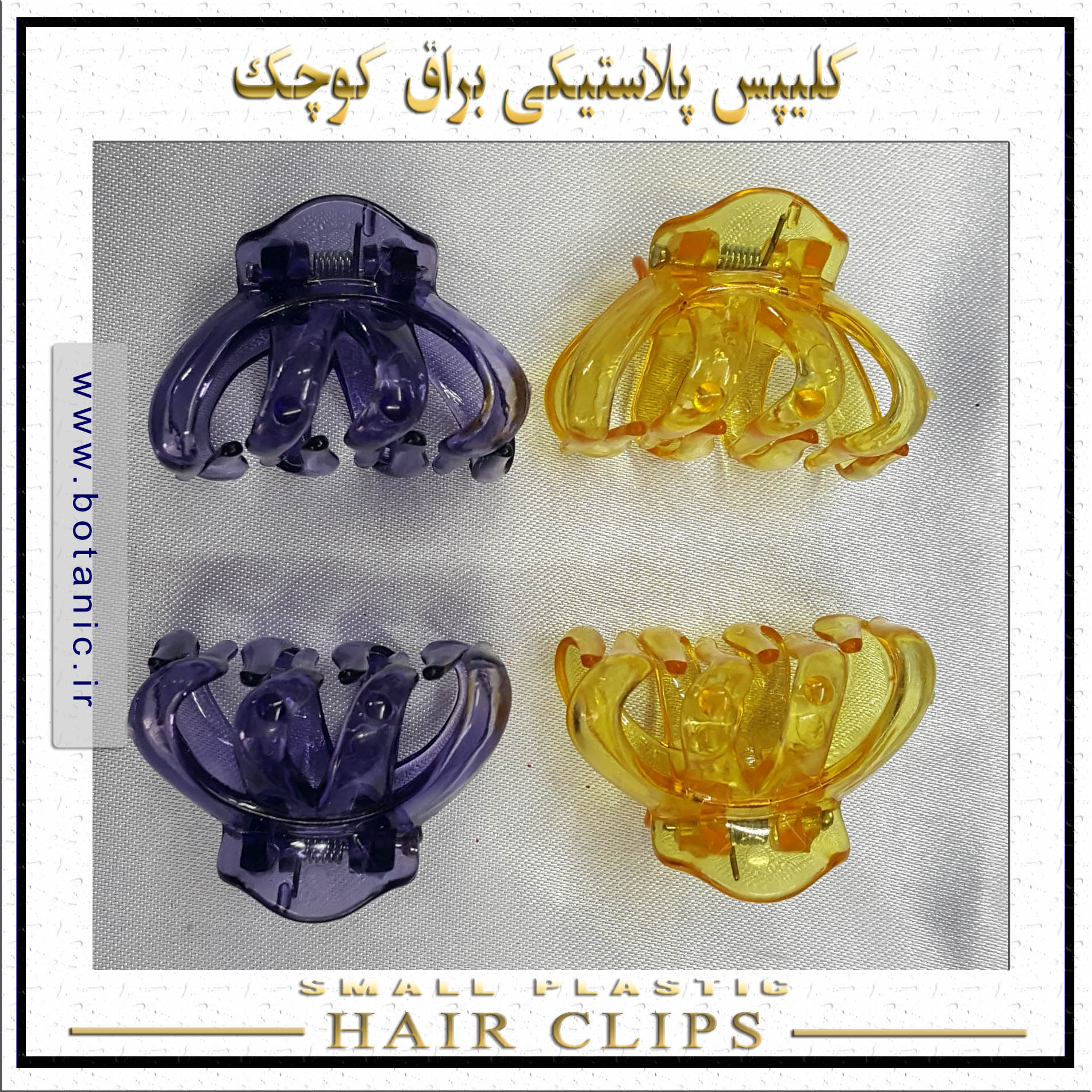 Small Transparent Hair Clips