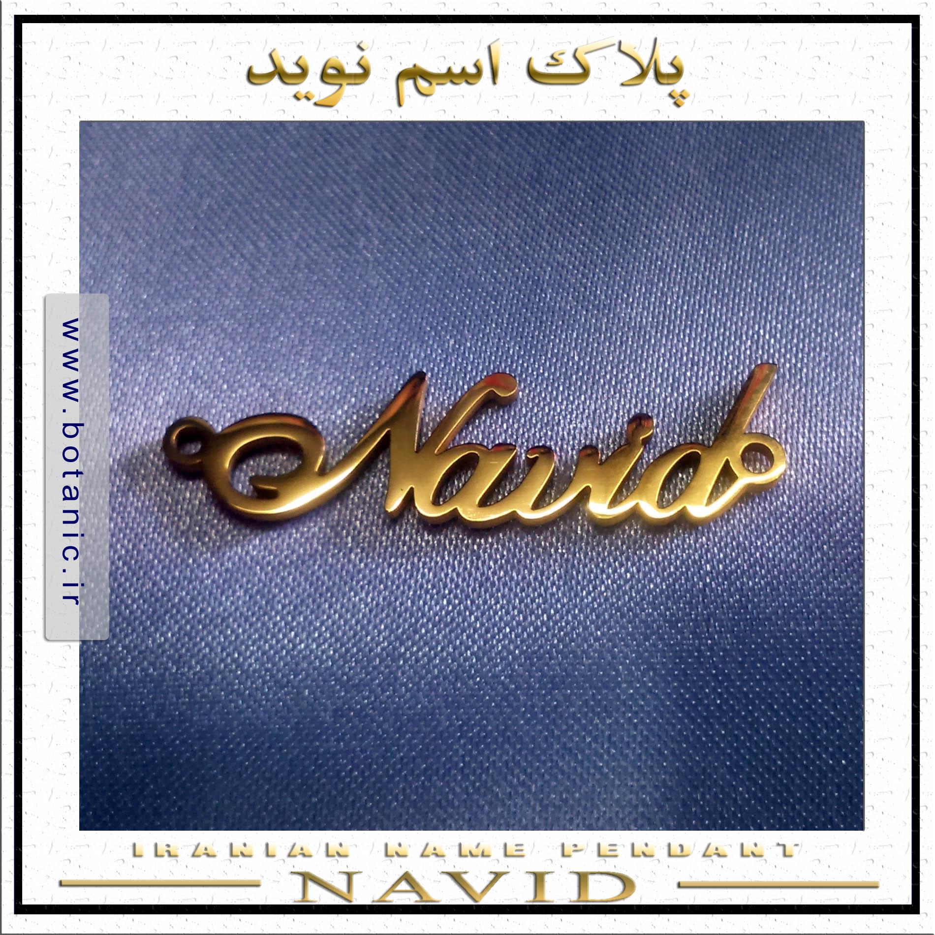 Iranian Name Pendant Navid