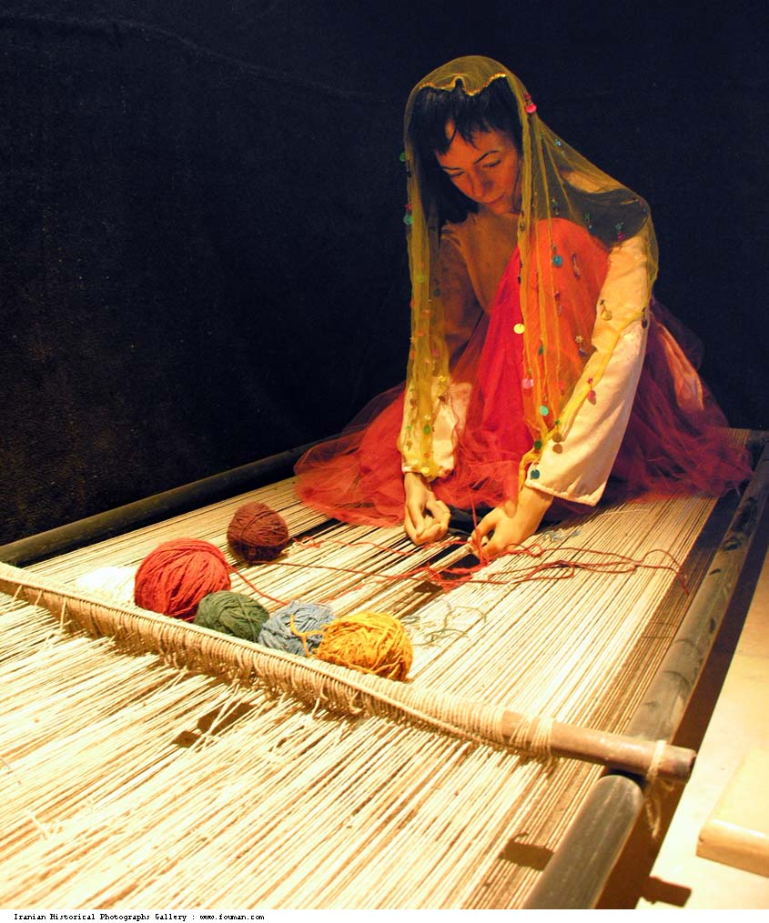 Negareh Shiraz Persian Carpet Museum Lady Jpg